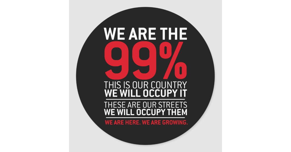 We are the 99 99 percent occupy wall street round for Z table 99 percent