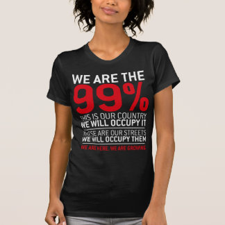 We are the 99 - 99 percent occupy wall street t shirts