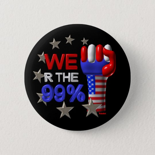 We are the 99 fist on 30 items 6 cm round badge