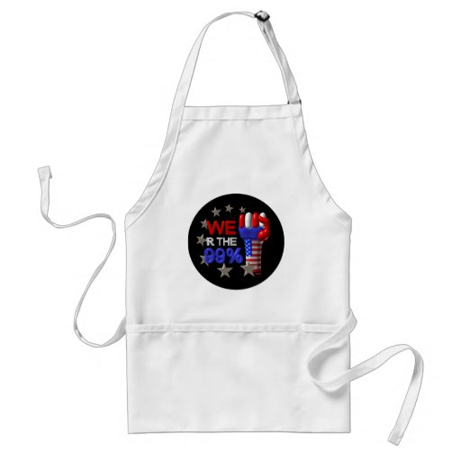 We are the 99 fist on 30 items aprons