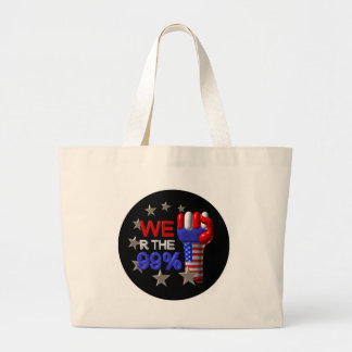 We are the 99 fist on 30 items canvas bags