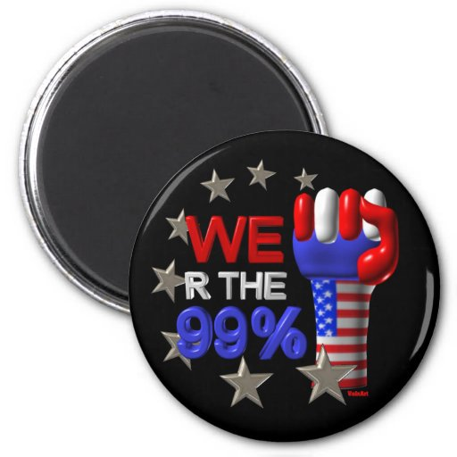 We are the 99 fist on 30 items magnet