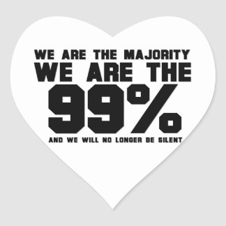 WE ARE THE 99% HEART STICKER