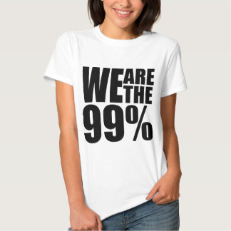 We Are the 99% Ladies Baby Doll Tshirts