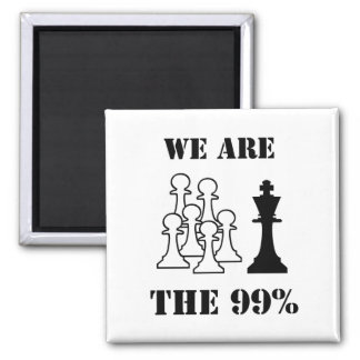 We are the 99% refrigerator magnet