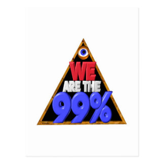 We are the 99% Occupy wall street protest Postcard