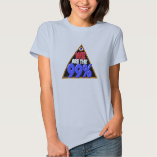 We are the 99% Occupy wall street protest Tshirt