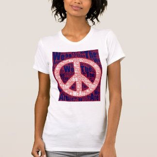 We are the 99% Peace Sign - 01 T Shirts