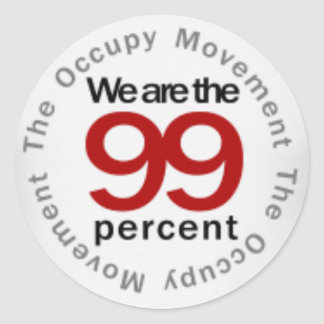 We are the 99 percent round sticker