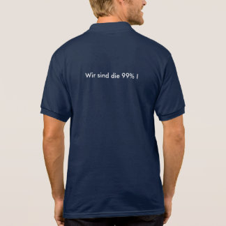 We are the 99% polo shirt