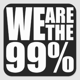 We Are the 99% Sticker