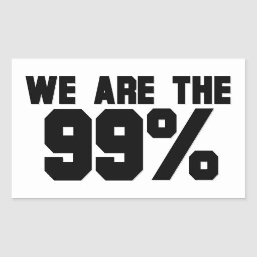 WE ARE THE 99% RECTANGULAR STICKER