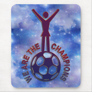 WE ARE THE CHAMPIONS - women soccer Mouse Pad