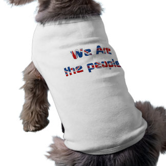 we are the people dog coat sleeveless dog shirt
