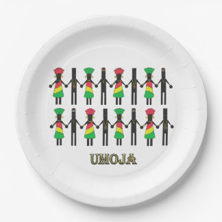 We Are United Kwanzaa Party Paper Plates