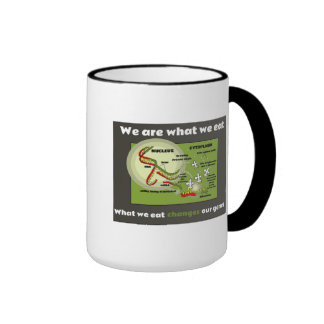We are what we eat ringer coffee mug