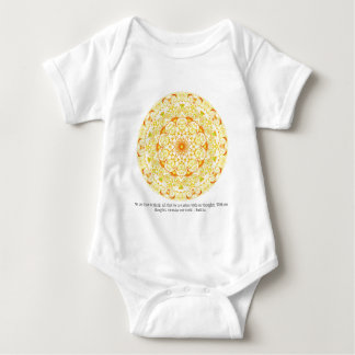 We are what we think. All that we are arises...... Baby Bodysuit