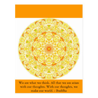 We are what we think. All that we are arises...... Postcard