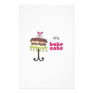 WE BAKE CAKE STATIONERY