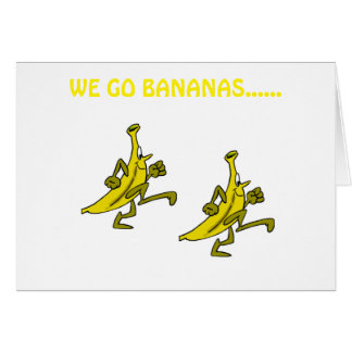 WE (BANANAS) GO BANANAS OVER YOUR **RETIREMENT** CARD