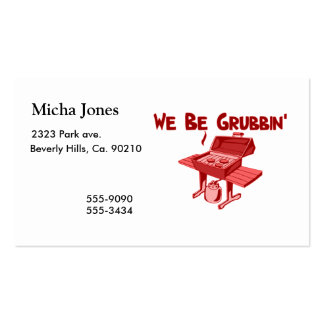 We Be Grubbin Business Card Template