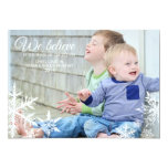 We Believe | Holiday Photo Greeting 13 Cm X 18 Cm Invitation Card