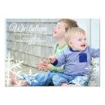 We Believe   Holiday Photo Greeting 13 Cm X 18 Cm Invitation Card