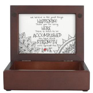 We Believe in the good things Happening Keepsake Box