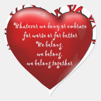 We Belong Together Heart Sticker