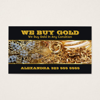 We Buy Gold Business Card