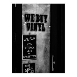 We Buy Vinyl Postcard