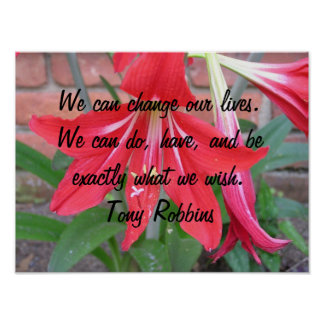 We can change our lives. poster