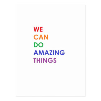 We Can Do Amazing Things Postcard