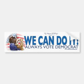 We Can Do It Donkey Bumper Sticker  Car Bumper Sticker