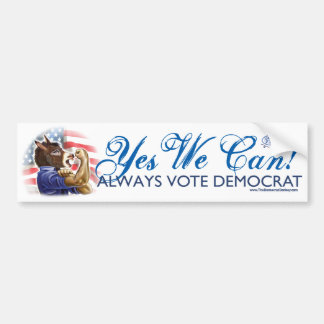 We Can Do It Donkey Bumper Sticker
