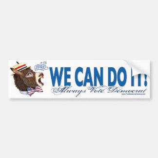 We Can Do It Donkey Head Bumper Sticker  Car Bumper Sticker