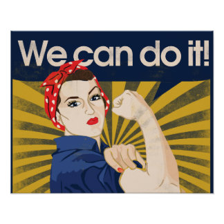 We can do it feminism poster