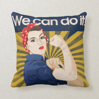 We can do it feminism throw cushions