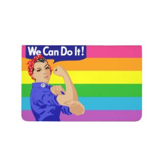 WE CAN DO IT (GAY FLAG DESIGN) Pocket Journal