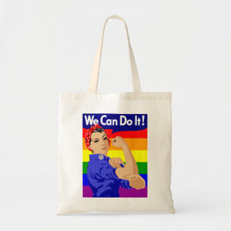 WE CAN DO IT (GAY ROSIE) Budget Tote bag