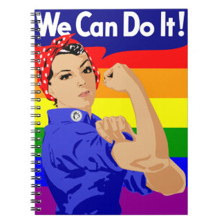 WE CAN DO IT (GAY ROSIE THE RIVETER) NOTEBOOK