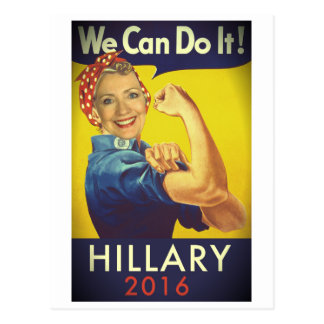 We Can Do It, Hillary for President! Postcards