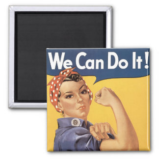 We Can Do It! Square Magnet