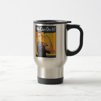 """""""We Can Do It!"""" Stainless Steel Travel Mug"""