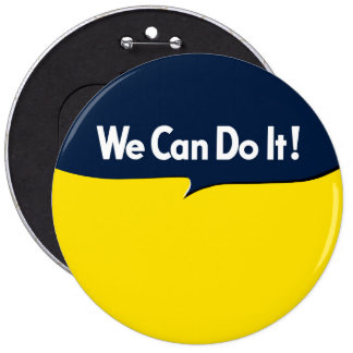 We Can Do it Rosie Graphic Bubble 6 Cm Round Badge