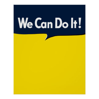We Can Do it Rosie Graphic Bubble Poster
