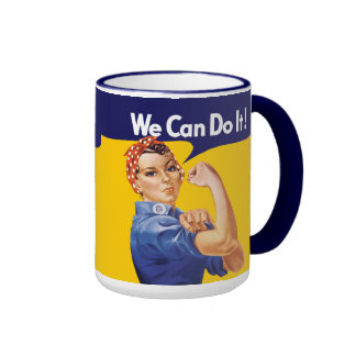 We Can Do It! Rosie the Riveter Ringer Coffee Mug