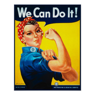 We Can Do It! Rosie the Riveter Poster Print