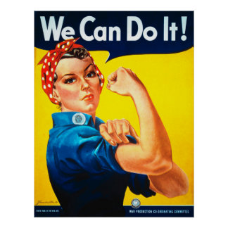 We Can Do It! Rosie the Riveter Vintage Poster