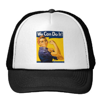 We Can Do It! Rosie the Riveter Vintage WW2 Cap